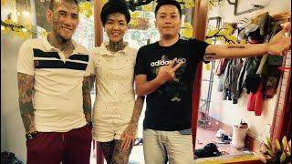 Anh bạn China ghé tiệm xăm vui vẻ xăm sóng âm bài hát tiếng Trung