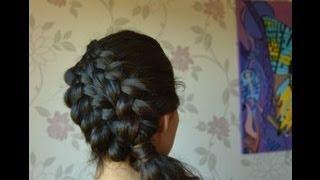 ПРИЧЕСКА.КОСА ИЗ 6 ПРЯДЕЙ.  Двойное плетение косы на бок для средних и длинных волос.(В этом видео я покажу как заплести себе косу похожую на косу из 5 прядей, но эту прическу заплести намного..., 2013-09-06T21:59:34.000Z)