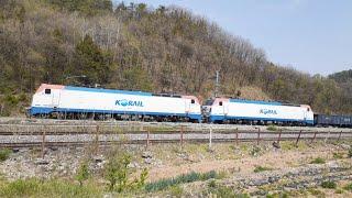 쌍룡역 부근 지나가는 화물열차 기차소리