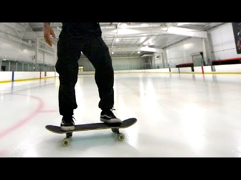 Breaking into Ice Rink with Skateboards.