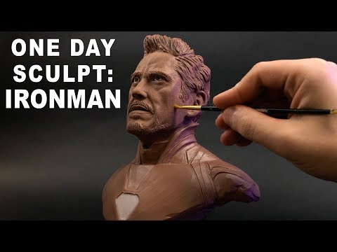 One Day Sculpt: Iron Man / Tony Stark - Timelapse