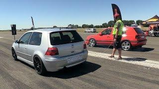 Video 500HP VW Golf 4 Turbo vs 700HP VW Golf 3 VR6 Turbo download MP3, 3GP, MP4, WEBM, AVI, FLV September 2018