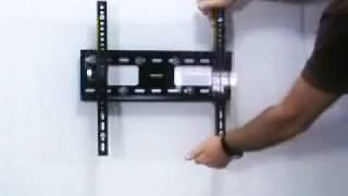 видео Как крепить кронштейн к стене