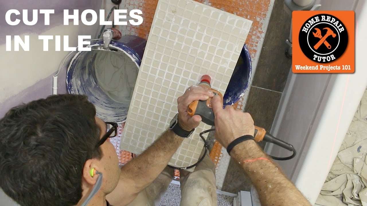 How To Drill A Hole In Ceramic Or Porcelain Tile Quick Tips YouTube - Cutting holes in tile for plumbing