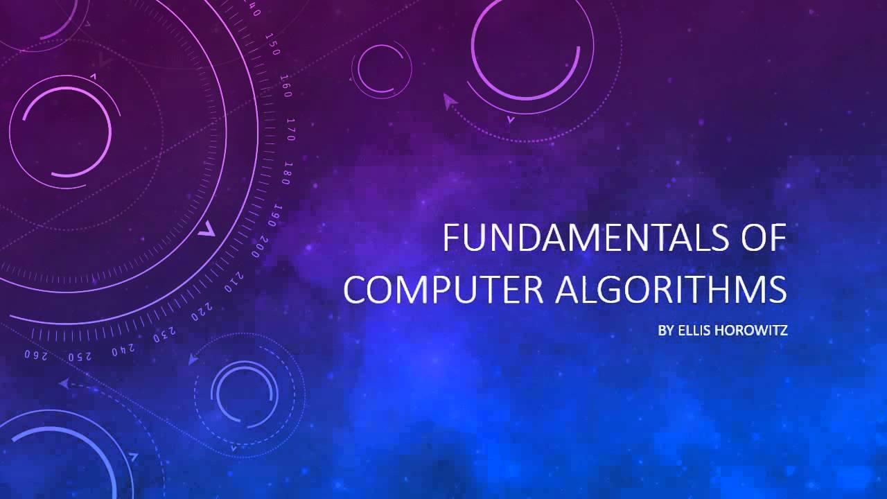 Algorithms computer pdf ellis of fundamentals horowitz