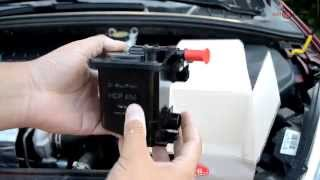 How to change fuel filter 1.6 HDI Peugeot 307, 308 and Citroen C4