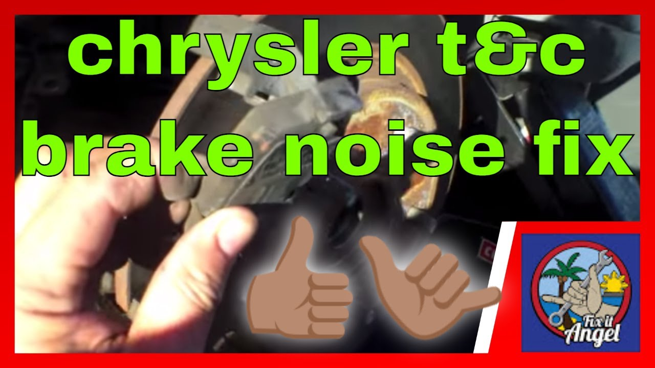 Rear Brake Rattling Noise Chrysler Town And Country Van Youtube Pads Squeaking When Brakes Applied Car Judders