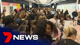 More Than 1,500 Makeup Lovers Line Up For Sephora's Grand Opening | Adelaide | 7news