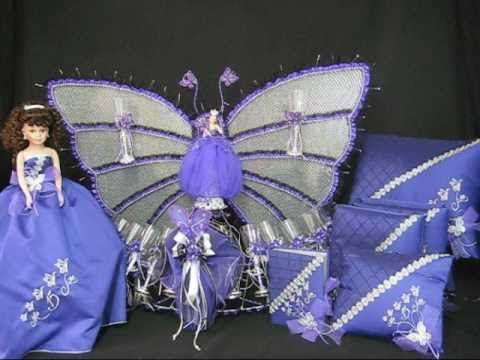 Quinceanera Centerpieces - Butterfly Theme (Purple/Silver ...