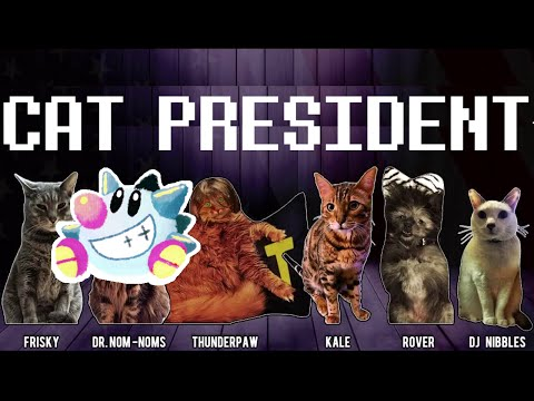 Cat President: Visual Novel for JPEGs of cats!