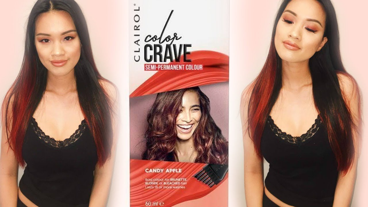 Clairol Color Crave Candy Apple Review Youtube