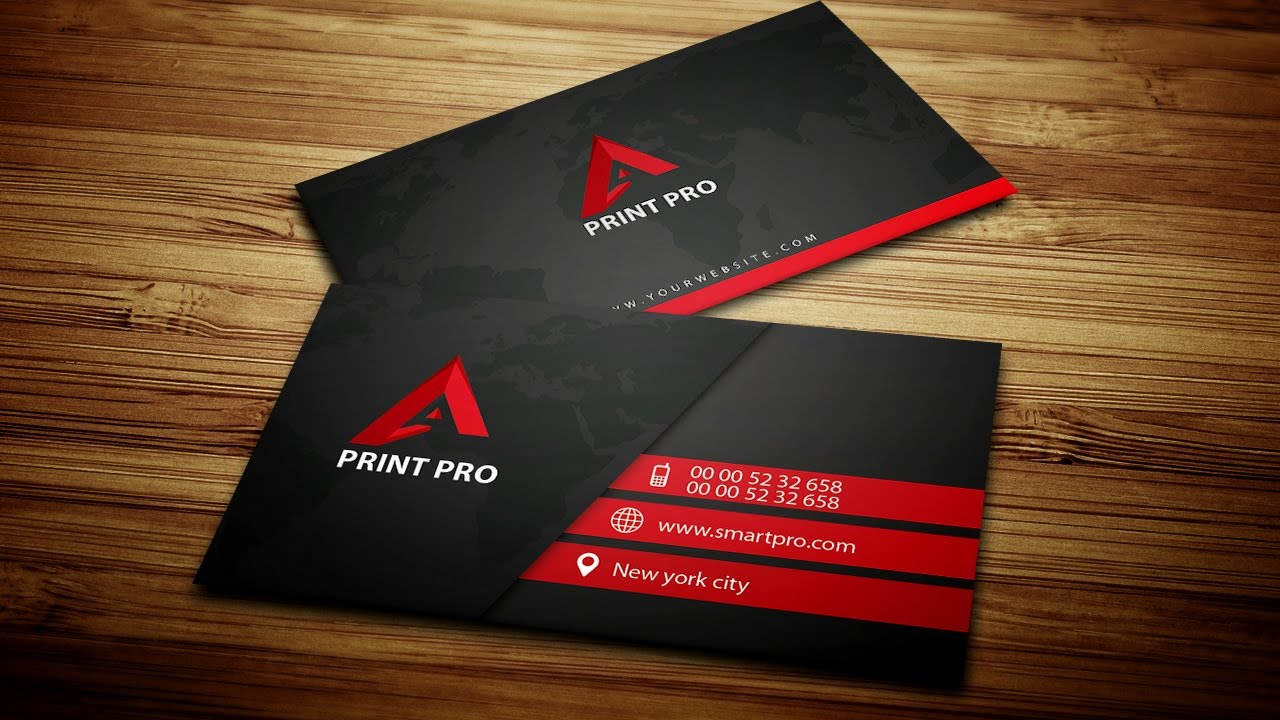 Modern black business card photoshop creative tv youtube modern black business card photoshop creative tv reheart Gallery