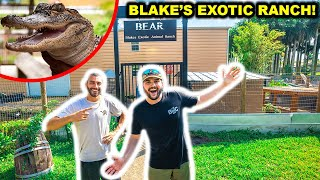 Exploring a DANGEROUS Exotic Animal Ranch in FLORIDA!!! (ft. Blake's Exotic Animal Ranch)