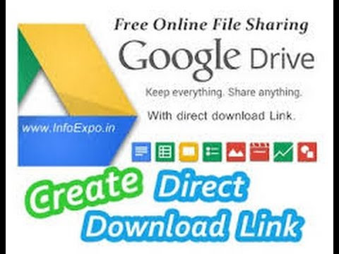 How to generate Download link in Google drive?step by step