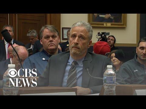 Jon Stewart breaks down in emotional testimony at 9/11 Victims Fund hearing