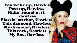 beyoncé flawless lyrics on screen