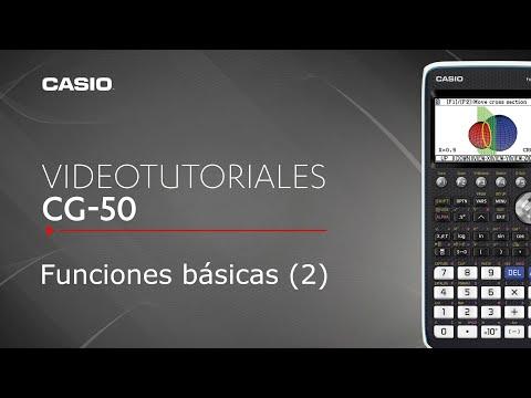 Calculadora gráfica CASIO fx-CG50: Funciones básicas (Parte 2)