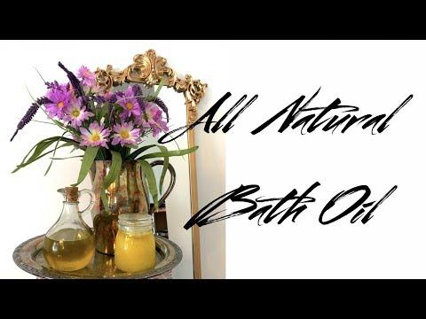 DIY All Natural Bath Oil