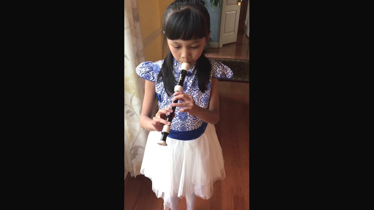 Chinese Folk Song Jasmine Flower On Recorder Youtube