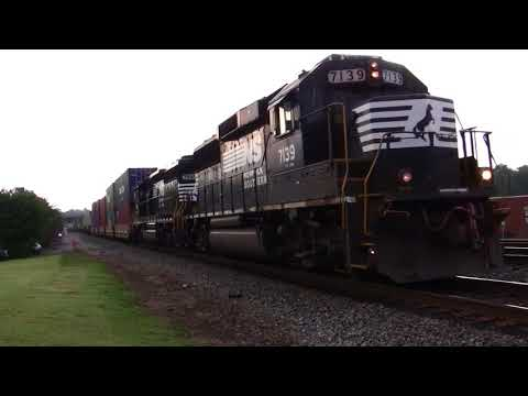 NORFOLK SOUTHERN TRAINS IN AUSTELL & MABLETON,GA. 9-13-2017