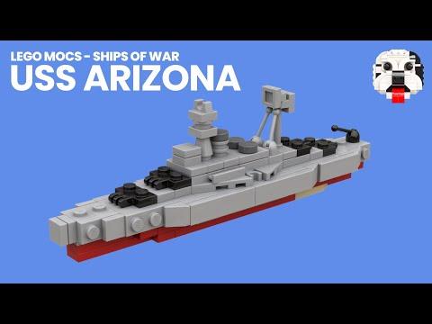 Lego Mocs Ships Of War Mini Lego Uss Arizona Bb 39 Video