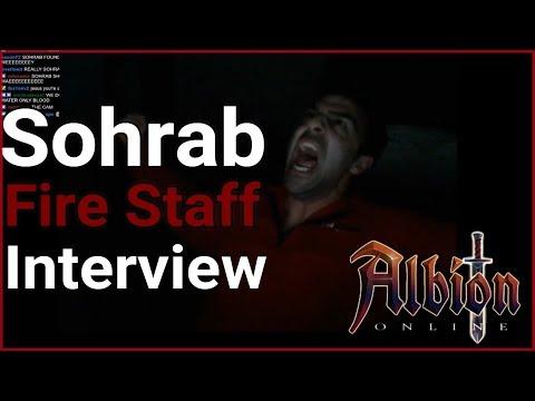 Albion online l Sohrab Interview (FIRE STAFF & GVG)
