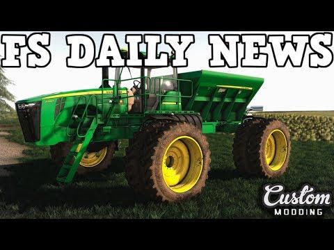 JOHN DEERE 4940 UPDATE PLUS MODS IN TESTING | FS DAILY NEWS | Farming Simulator 19