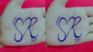 How To Draw S And R Letter Heart Design