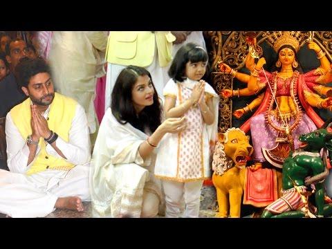 Amitabh Bachchan Family Durga Pooja 2016 Full Video HD - Aishwarya,Abhishekh,Aaradhya,jaya