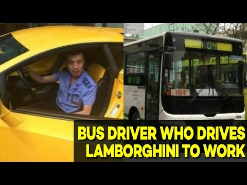 Mysterious Bus Driver Who Drives a Lamborghini to Work