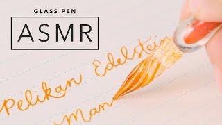 Glass Pen ASMR: J. Herbin Frosted Glass Dip Pen