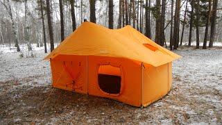 """Палатка """"Снежинка"""". Пробная сборка."""