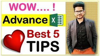 Advanced Excel 👉 5 Fantastic Super Time Saving Secrets Tips 😀To Make You EXPERT
