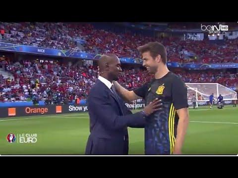 Así fue el Reencuentro de Piqué con Éric Abidal | Eurocopa 2016