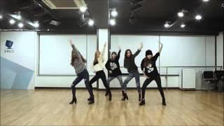 4minute crazy dance practice mirrored