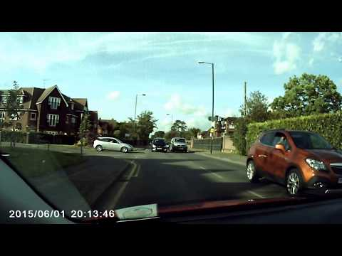 Bad Driving example 3: Driver on wrong side of road!