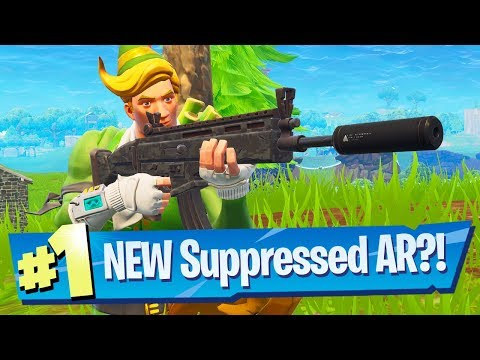 NEW Suppressed Assault Rifle Gameplay - Fortnite Battle Royale