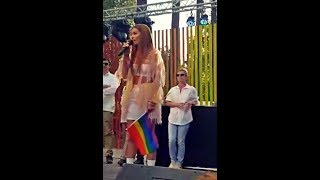 Eleni Foureira-Fuego and speech about LGBT//Live at the Cyprus Gay Pride 2018