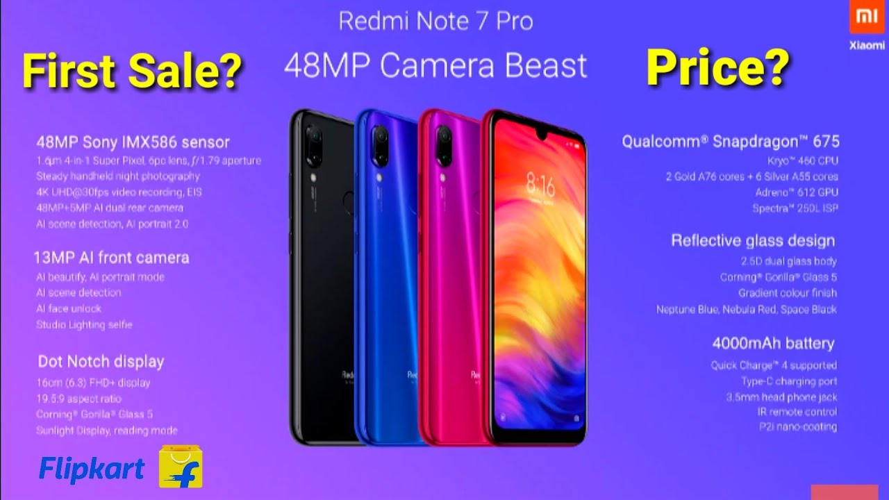 Redmi Note 7 Pro Redmi Note 7 First Look Full Specifications