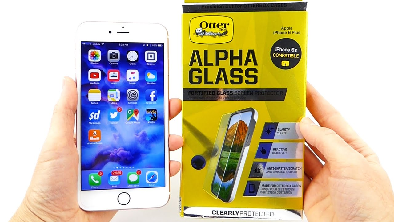 detailed look 819db 1b506 Otterbox Alpha Glass: A Great Case Friendly Screen Protector for iPhone 6s+!