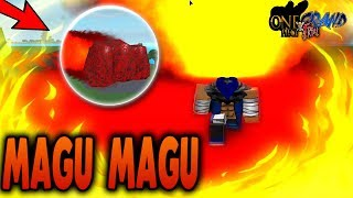 MOST OVERPOWERED DEVIL FRUIT! | MAGU MAGU no Mi Showcase | Roblox One Piece Grand Trial