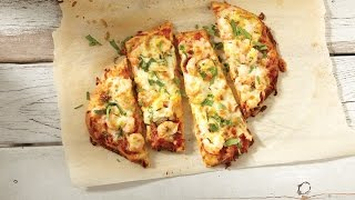 Indian-style shrimp pizza with Mozzarella  All You Need is Cheese