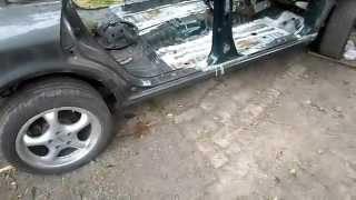 Mitsubishi Sigma. Кузовной ремонт. Замена задней части и днища.