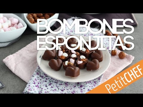 Receta bombones de chocolate con esponjitas y avellanas | Petitchef