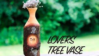 Lovers' Tree Vase - Woodturned Wedding Gift
