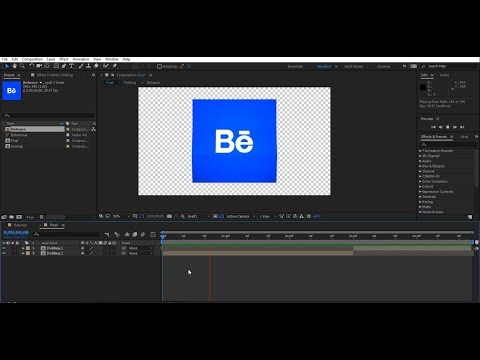 Folding Icone After Effects Tutorial