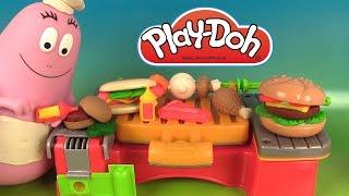 Play Doh Cookout Creations Créations sur le gril Pâte à modeler avec Chef Barbapapa
