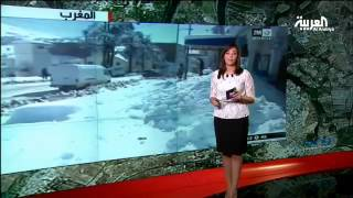 التساقطات الثلجية تتسبب في عزلة بعض القرى المغربية