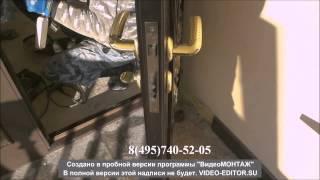 Видео входных дверей со стеклопакетом и ковкой(Установка двери со стеклом и ковкой. Двери со стеклом: http://www.metal-door.ru/categories/284/ Двери со ковкой: http://www.metal-door.ru/ca..., 2014-02-26T07:58:19.000Z)