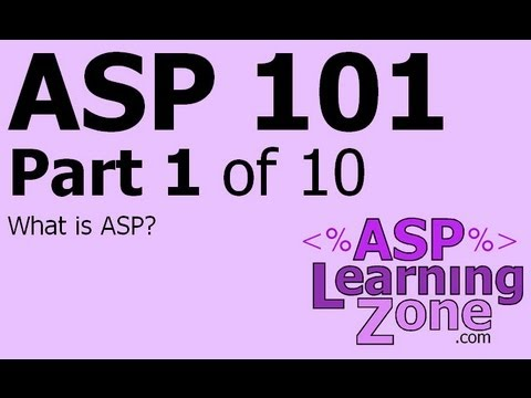 Active Server Pages Tutorial ASP 101 Part 01 of 10: What is ASP?